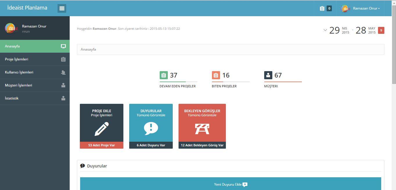 ideaist-proje-dashboard